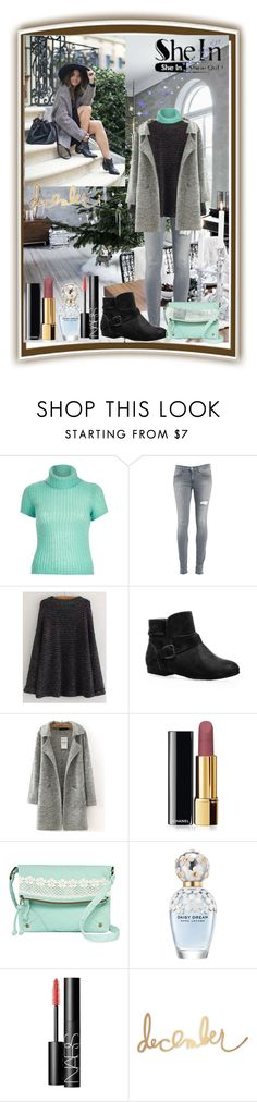 """Shein contest"" by zijadaahmetovic ❤ liked on Polyvore featuring River Island, Dondup, Avenue, Chanel, T-shirt & Jeans, Marc Jacobs and NARS Cosmetics"