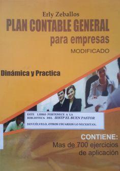Título: Plan contable general para empresas Autor: Erly Zaballos Año: 2012