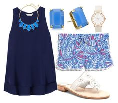 """""""{lilly shorts}"""" by preppy-southern-girl-1-2-3 ❤ liked on Polyvore featuring Rebecca Taylor, Lilly Pulitzer, Kate Spade and Jack Rogers"""