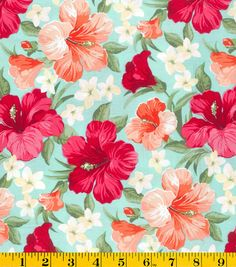 Gertie Collection Fabrics- Sateen Tropical Teal Cotton Fabric