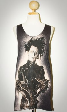 Johnny Depp Edward Scissorhands Charcoal Black Tank Top Sleeveless Women Pop Rock T-Shirt Size S. $15.99, via Etsy.