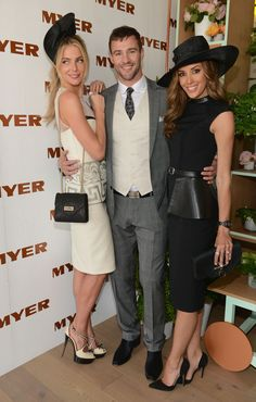 Myer Ambassadors Jennifer Hawkins, Kris Smith and Rebecca Judd looking stunning in the Myer Marquee on Derby Day #derbyday #myermarquee