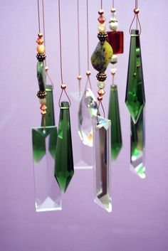 Crystal Windchimes Sharply Dressed Indoor by natureinspiredcrafts, $87.00