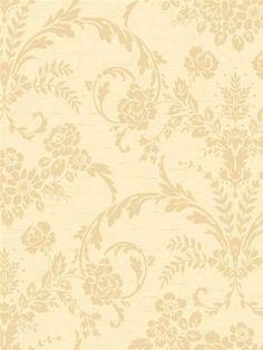 Floral Damask in Gold Wallpaper CS8747