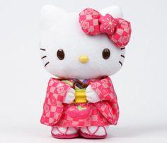 "Hello Kitty 8""  Standing Plush: Kimono"