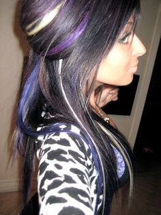 purple and blonde in hair!