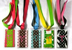 Personalized Bag Tags Fabric Luggage Tag With by MissPrissandCo, $9.25