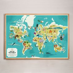 Monocle Map of The World Print - Curiosities | Drake General Store