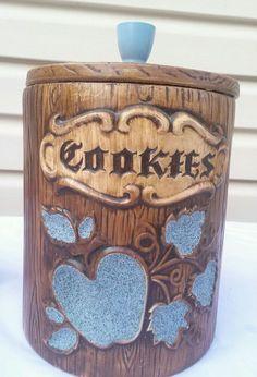 Vintage Apple Cookie Jar made in USA by Treasure Craft