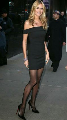 The one and only time that Heidi Klum's legs are even close to the amount of money she has them insured for is when she is wearing pantyhose.