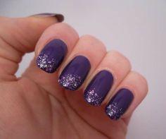 17 Beautiful Sparkled purple  Nails (Nail Art Ideas)