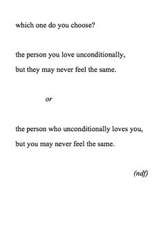 Unrequited love-Sometimes you don't get to choose