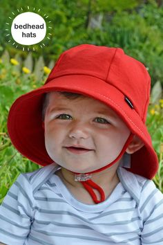 9885e806046 Bedhead s baby bucket hat in unisex Red. Our baby bucket sun hat is rated  UPF