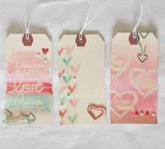Bits and Pieces...: Watercolored Tags