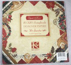 K & Company Scrapbook Designer Paper Pad 36 Sheets Holiday Theme 8.5 x 8.5 New #KCompany