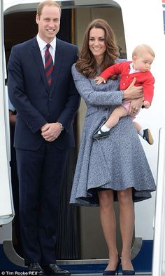 watchingwindsor:  Cambridge Royal Tour-Day 16, Canberra, Australia, April 25, 2014-The Duke and Duchess of Cambridge and Prince George depart from Canberra at the end of their tour.