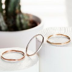 $105 - Basic Ring Set- Sterling Silver and Solid Gold