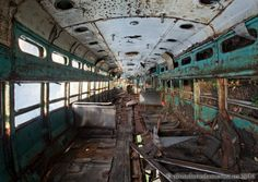 Trolley and Streetcar Graveyard - Photographs by Matthew Christopher Murray of Abandoned America