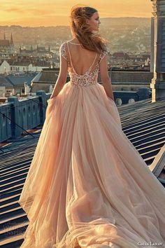Blush Pink Wedding Dresses Princess Vintage Ball Gown Lace backless wedding dress for brides