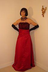 #cross-dresser in a ball gown