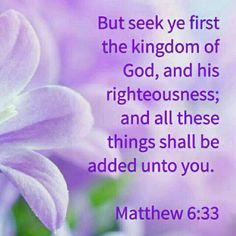 Matthew 6:33 KJV