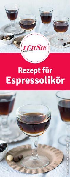 Rezept für Espressolikör - selbstgemachte Geschenke zu Weihnachten.