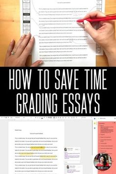 5 Essay Grading Tips for Grading Essays Faster and More Efficiently: Save time grading essays online or in print – Building Book Love How to grade essays faster while giving better and more focused feedback. Teaching Writing, Teaching Strategies, Teaching Tips, Essay Writing, Teaching English, College Teaching, Writing Assessment, Teaching Career, Teaching Spanish