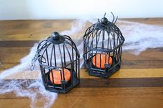 A Halloween DIY using Kate Aspen bird cages and orange tea lights  http://blog.kateaspen.com/?p=6804