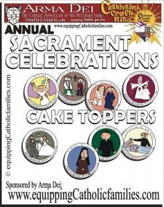 free Sacrament cake toppers Printable! can be used for parties, invitations, buttons, scrapbooking...