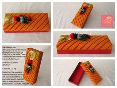 Our Leheriya Box: A wonderful traditional Leheriya Print top with a matching red base and elephant embellishments!