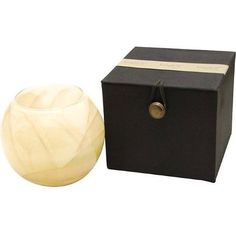 Ivory Globe Candle Lovely Fragrance Polished Painted Wax Stunning Aroma 50 Hours