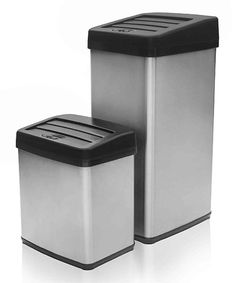 Another great find on #zulily! Anti-Fingerprint Motion Activated Trash Can Set #zulilyfinds