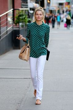 Jessica Hart Strolls Around NYC