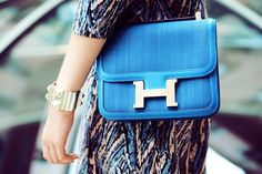 Blue Hermes bag perfection
