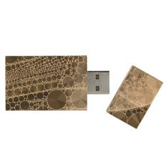 Sofia Bling Abstract Pattern Wood USB Flash Drive