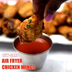 Crispy Air Fryer Fried Chicken Wings is the best quick and easy recipe that will teach you how to fry and make fried chicken in the Power XL, Nuwave, or any air fryer brand. This healthy fried chicken is also keto, low-carb, and gluten-free. #AirFryer #KetoAirFryerChicken Fried Wings Recipe, Healthy Fried Chicken, Making Fried Chicken, Crispy Chicken Wings, Keto Chicken, Air Fryer Recipes Chicken Wings, Air Fryer Fried Chicken, Air Fryer Oven Recipes