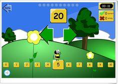 La abeja y los números de iboard.co.uk (Secuencia del 1 al 120)