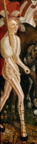 Lucas Cranach, the Elder, Young man from St. Catherine Altarpiece (Center part, deatail), Dresden, Gemäldegalerie Alte Meister.