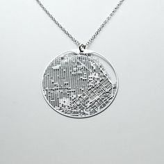 I am ridiculously fascinated by products with city grids on them.  Necklace San Francisco now featured on Fab.