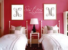Sisters Quote, Great for sisters sharing a room, a little sisterly love! on Etsy, $6.00