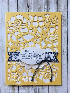 """Laura Milligan, Stampin' Up! Demonstrator - I'd Rather """"Bee"""" Stampin! Sympathy Cards, Greeting Cards, Cricut Cards, Stamping Up Cards, Mothers Day Cards, Creative Cards, Flower Cards, Anniversary Cards, Scrapbook Cards"""