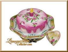 Limoges - Pink Birthday Cake w/ a Heart