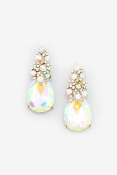 Crystal Jackie Earrings in Iridescence: stunning for a Christmas or New Year's party