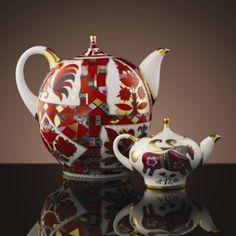 Lomonosov Porcelain Tea Set   Russian Horse Teapot Set