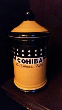 Cohiba Ceramic Cigar Jar Empty Preowned Good Condition