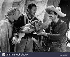 John Wayne, Harry Carey Jr., Pedro Armendáriz Directed By John Ford Stock Photo, Royalty Free Image: 37918436 - Alamy