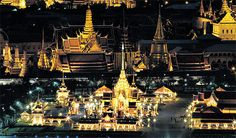 Thailand - The royal cremation site of Her Royal Highness Princess Bejaratana Rajasuda glitters ahead of the ceremonial cremation, which will be presided over by Their Majesties the King and the Queen at 4.30pm today. PATIPAT JANTHONG