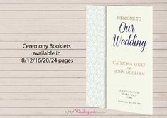 Wedding ceremony stationery plays an important part of your ceremony where guests may want to follow the prayers, hymns, order of wedding ceremony and see any other wedding traditions which are meaningful to you or even incorporate some symbols which symbolise new beginnings.   30% off all wedding ceremony booklets and pamphlets for a limited time only.