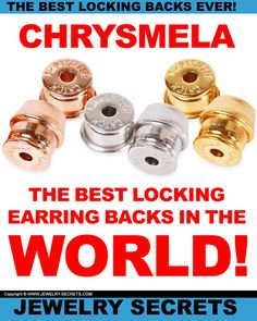 ► ►Why Chrysmela Catch is the BEST Locking Earring Backs in the WORLD! ► ►