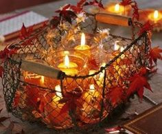 ..all things autumn ❤.. / Basket Of Candles